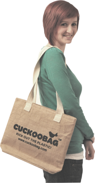 CUCKOOBAG are a design led manufacturer of eco bag solutions made of Jute and Cotton materials.